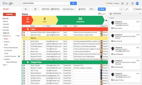 Streak for Gmail CRM