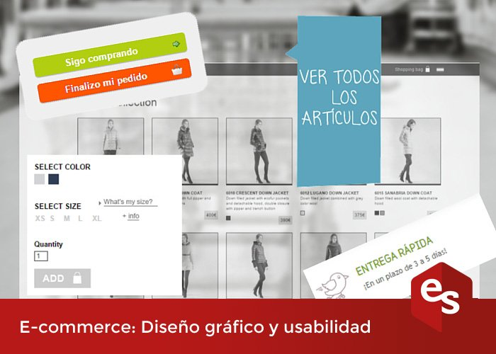 diseño y usabilidad tienda online