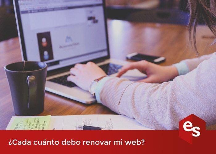 Renovar la web