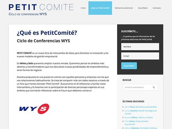 Diseño y desarrollo web PetitComite