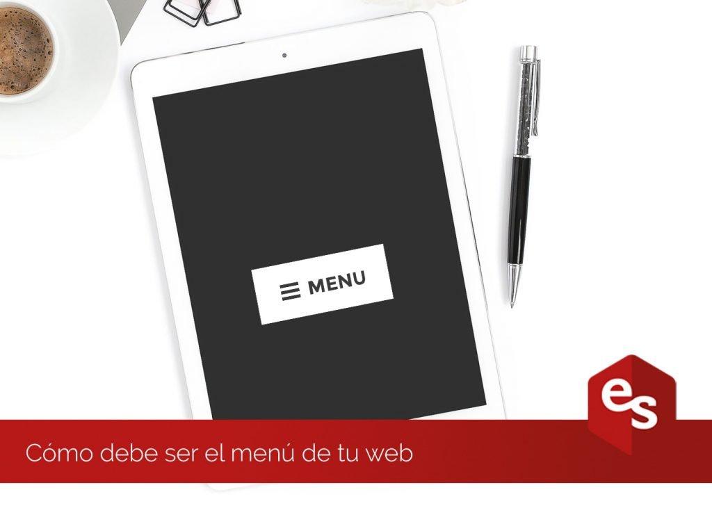 Consejos sobre el menu de tu web