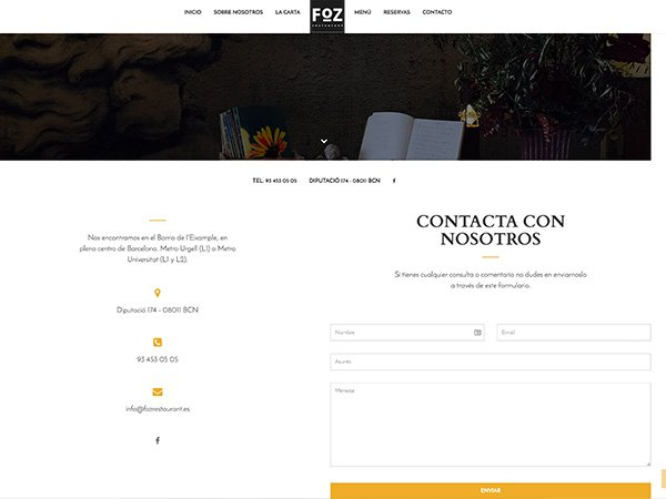 Desarrollo web Foz Restaurant