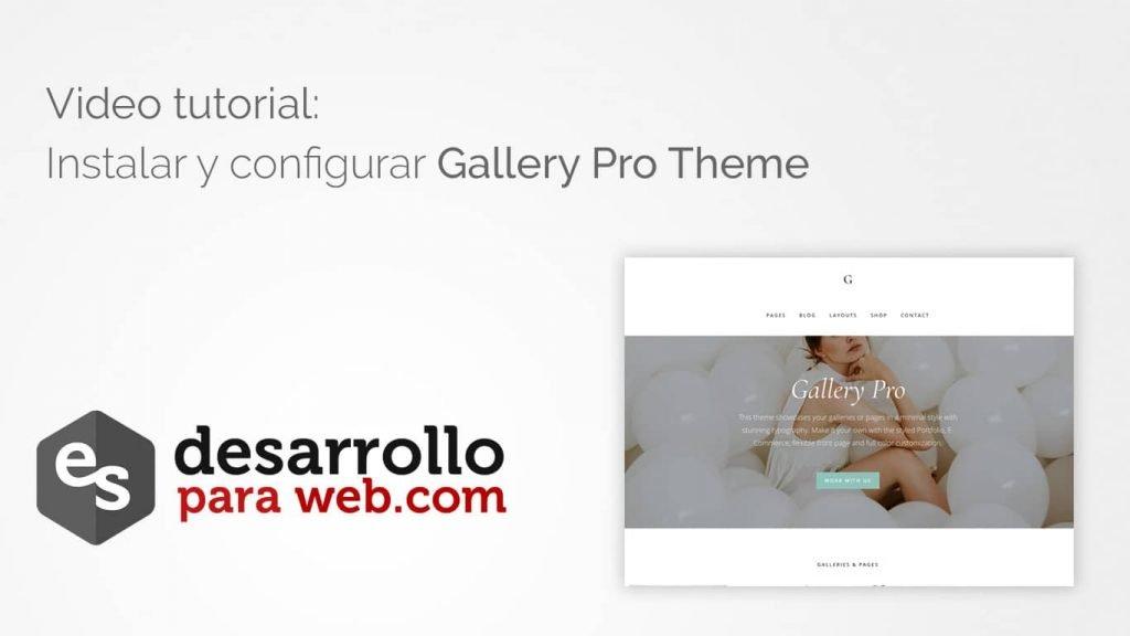tutorial gallery pro theme