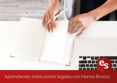 Aprendiendo sobre avisos legales y de privacidad gracias a Marina Brocca