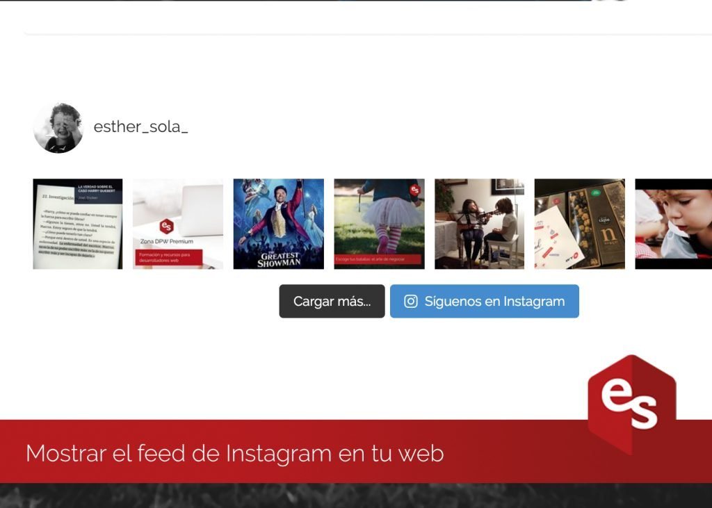 Instagram feed en tu web