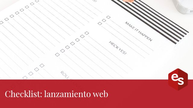 Checklist lanzamiento web