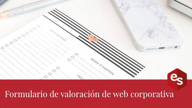 formulario valoracion web