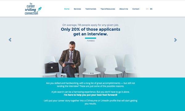 Desarrollo web con WordPress y Genesis Framework para The Career Writing Connection