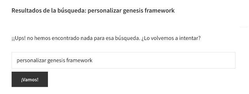 traduccir sorry no content matched your criteria