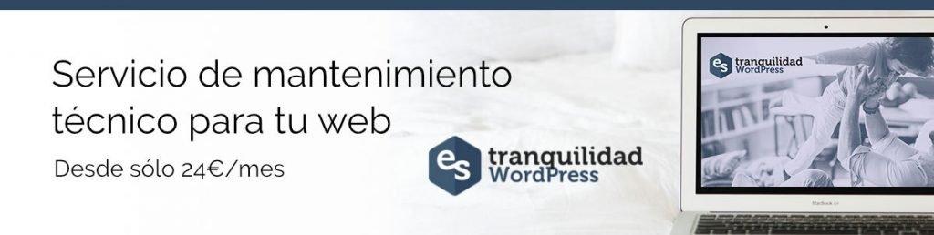 Mantenimiento web Tranquilidad WP