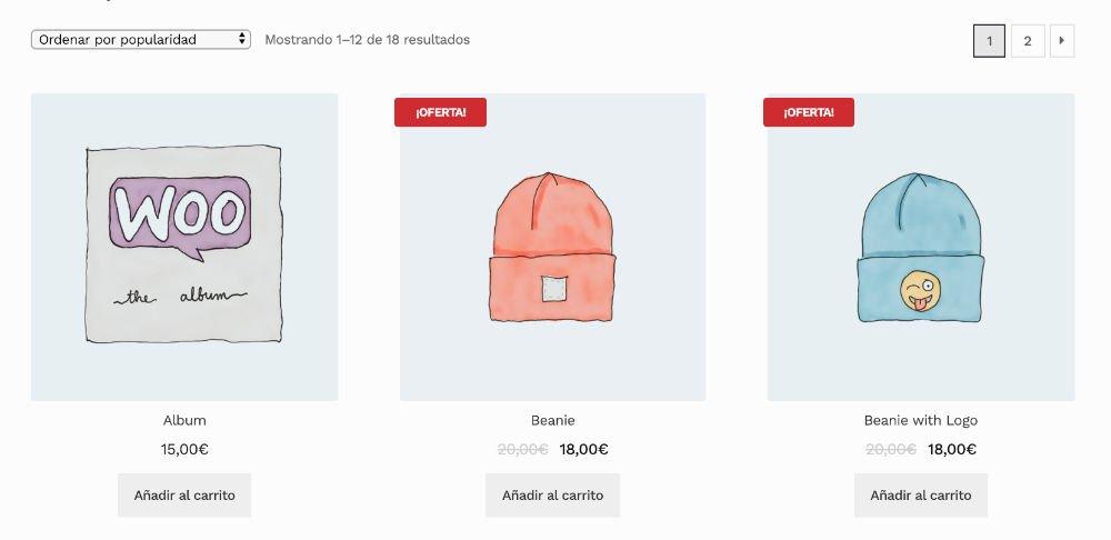 Etiqueta oferta en WooCommerce