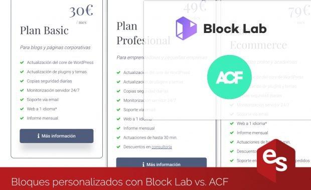 Bloques personalizados con Block Lab vs ACF