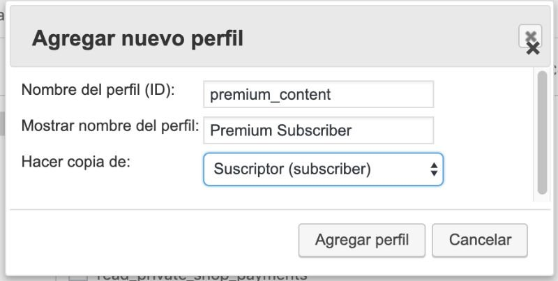 user role editor subscriber premium
