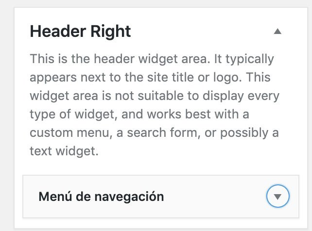Genesis header right widget area