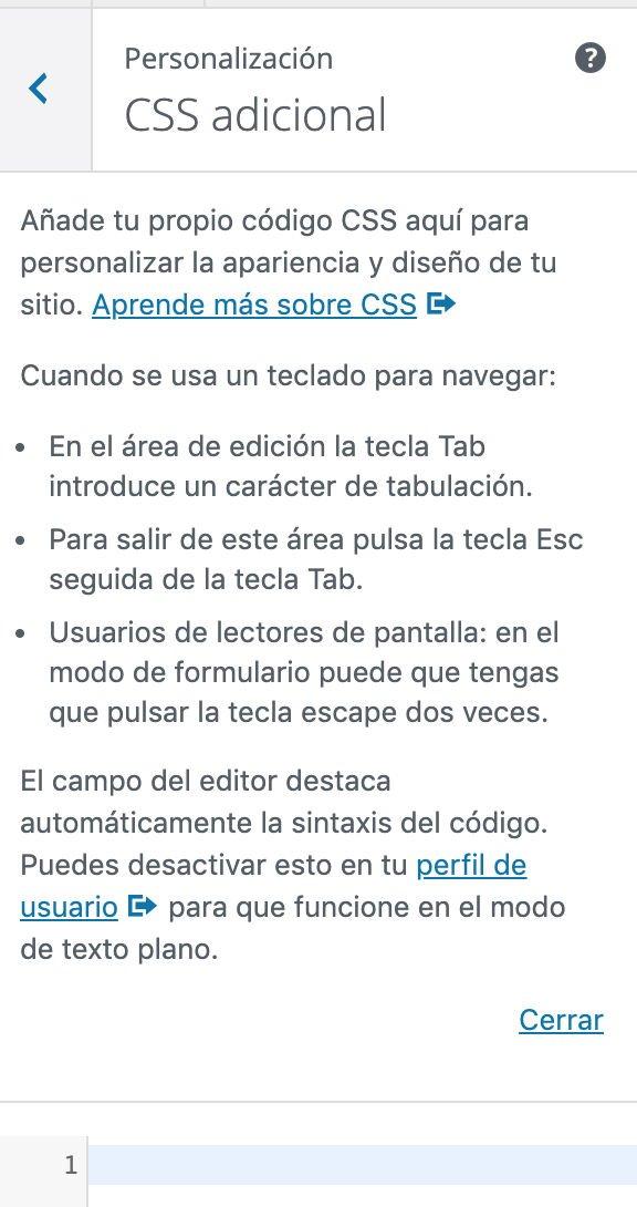 Personalizador CSS WordPress