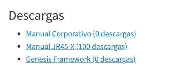Listado descargas Download Monitor
