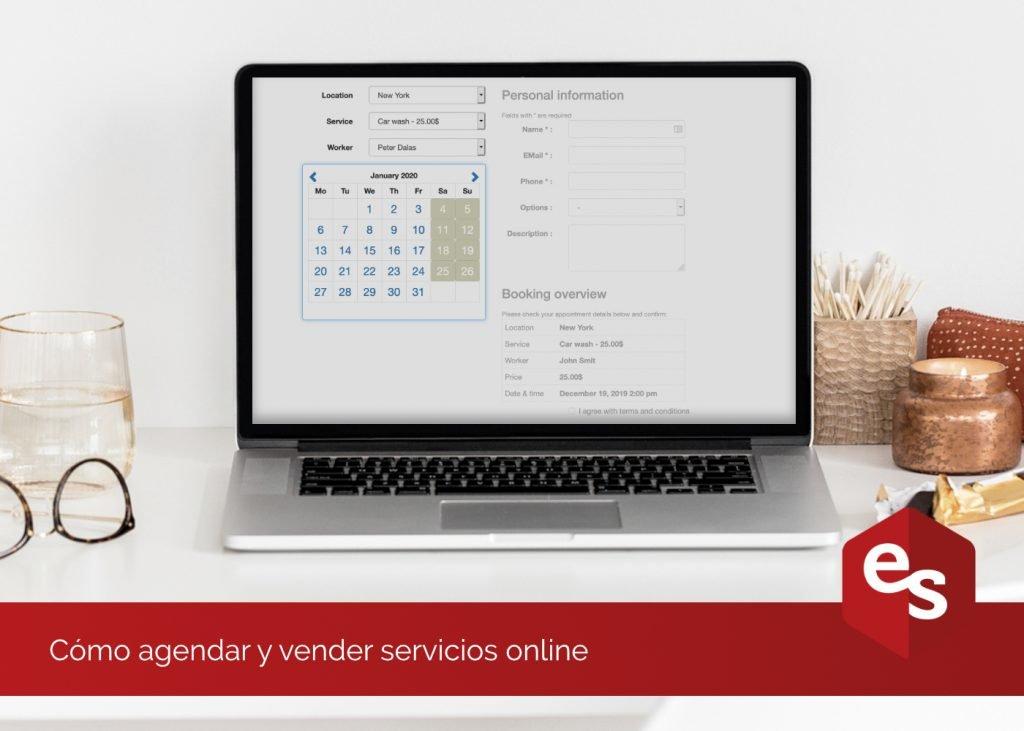 agendar y vender servicios en la web