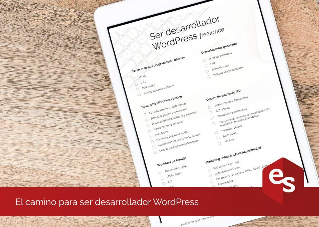 Como ser desarrollador WordPress
