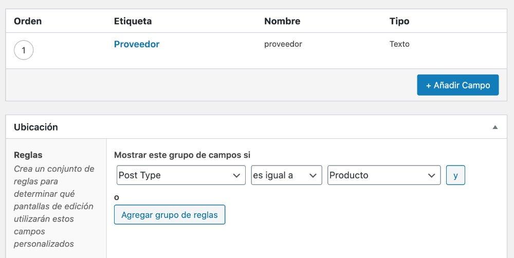 Mostrar campo ACF en producto WooCommerce