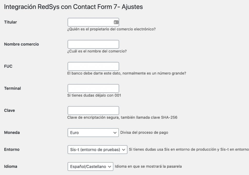 CF7 redsys