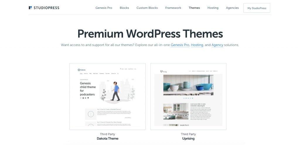 OsomPress en StudioPress